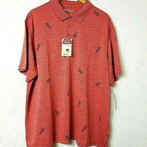 NWT Haggar Mens Patio Polo Shirt Size XXL Red
